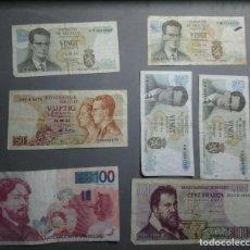Billetes españoles: LOTE DE 7 BILLETES BELGICA CIRCULADOS ****SOLO PAYPAL****LEAN CONDICIONES**. Lote 222145320