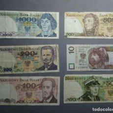 Billetes españoles: LOTE DE 6 BILLETES POLONIA CIRCULADOS****SOLO PAYPAL****LEAN CONDICIONES**. Lote 222145491