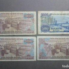Billetes españoles: LOTE DE 4 BILLETES VIETNAM CIRCULADOS****SOLO PAYPAL****LEAN CONDICIONES**. Lote 222145601