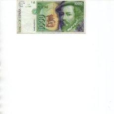 Billetes españoles: BILLETE DE 1000 PESETAS AÑO 1992. Lote 222226996