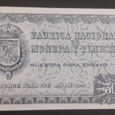Billetes españoles: MUESTRA PARA ENSAYO PRUEBA CALCOGRAFICA 509 FNMT S/C NEGRO. Lote 222417582