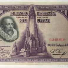 Billetes españoles: BILLETE DE 100 PESETAS 1928 SIN SERIE. Lote 222716681