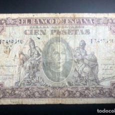 Banconote spagnole: BILLETE 100 PESETAS AÑO 1940 / CRISTOBAL COLON - SERIE F. Lote 223268922