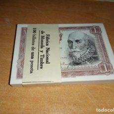 Billetes españoles: PAREJA CORRELATIVA DE UNA PESETA DE 1953 PLANCHA. Lote 224117638