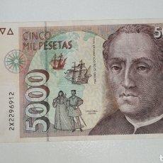 Billetes españoles: B-80 BILLETE 5000 PESETAS 1992 MBC CRISTOBAL COLON SERIE 2X. Lote 224166233
