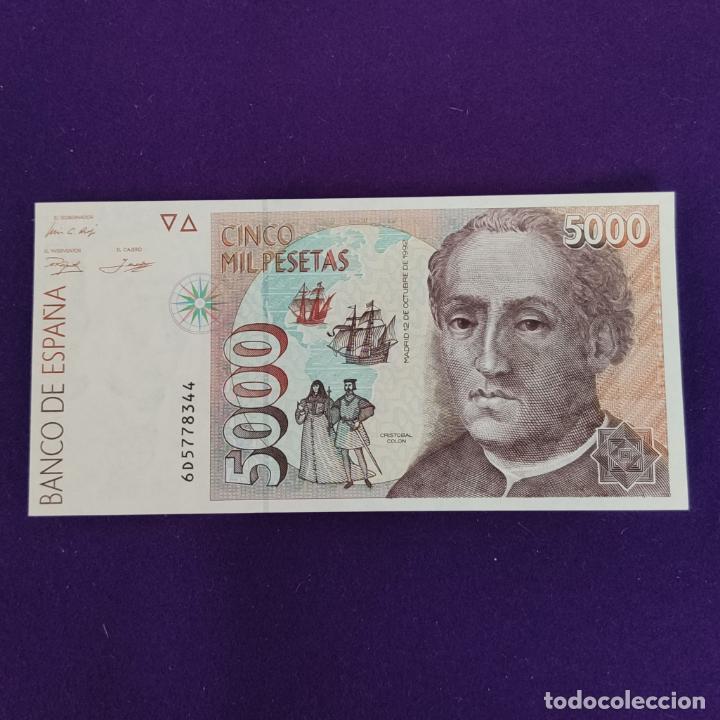 BILLETE ORIGINAL DE 5000 PESETAS. 1992. SIN CIRCULAR. PLANCHA. (Numismática - Notafilia - Billetes Españoles)
