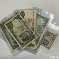 Billetes españoles: LOTE DE 27 BILLETES ESPAÑOLES. VER FOTOS. Lote 225487525