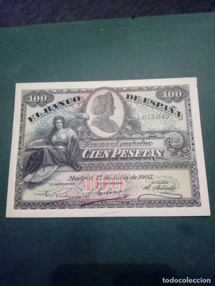BILLETE 100 PESETAS 1907 MUY BUEN ESTADO (Numismática - Notafilia - Billetes Españoles)