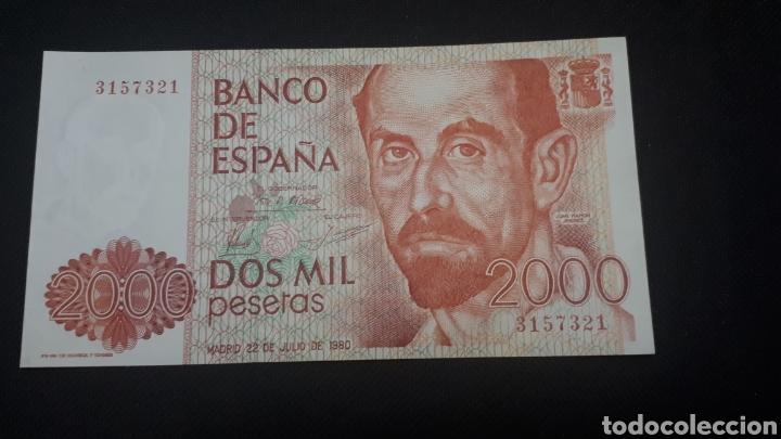 2000 PESETAS 1980 SIN SERIE SC PLANCHA (Numismática - Notafilia - Billetes Españoles)
