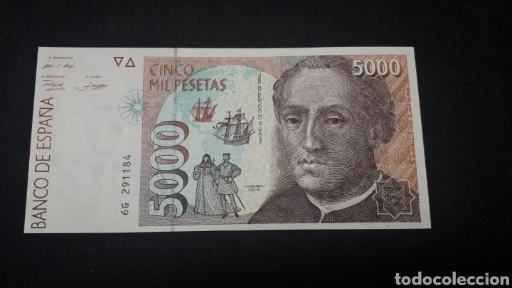 5000 PESETAS 1992 SC PLANCHA (Numismática - Notafilia - Billetes Españoles)