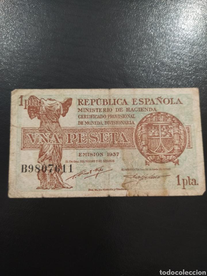 BILLETE 1 PESETA 1937 (Numismática - Notafilia - Billetes Españoles)
