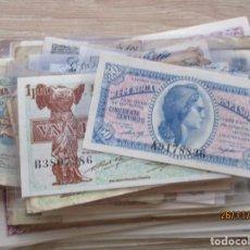 Banconote spagnole: LOTE 66 BILLETES ESPAÑOLES (HAY 10 SIN CIRCULAR) 0,50 CTS. 1, 2, 5 , 25, 50, 100, 500 PESETAS. PTAS.. Lote 227031965