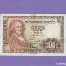 Notas espanholas: 100 PESETAS DE 1948 SERIE-E MBC++. Lote 227700185