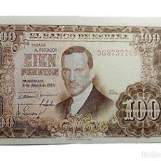Billetes españoles: BILLETE 100 PTS ESTADO ESPAÑOL AÑO 1953 SERIE 3G SIN CIRCULAR. Lote 227807080