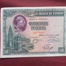 Banconote spagnole: 500 PESETAS DE 1928 MBC+. Lote 228000810