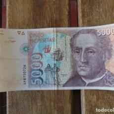 Billetes españoles: BANCO DE ESPAÑA BILLETE DE 5000 PESETAS CRISTOBAL COLON MADRID 12 DE OCTUBRE 1992. Lote 228090220