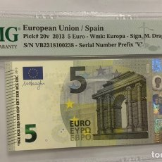 Banconote spagnole: 5 EUROS ESPAÑA 2013 VB, CERTIFICADO PMG 68. Lote 228365775