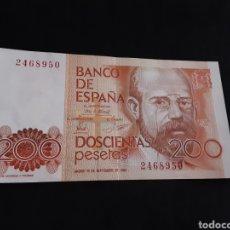 Billetes españoles: BILLETE 200 PESETAS 1980 JUAN CARLOS I SIN CIRCULAR Y SIN SERIE ESPAÑA. Lote 251447625