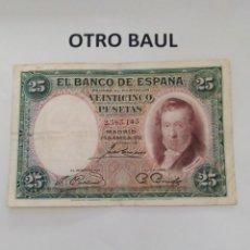 Billetes españoles: BILLETE DE 25 PESETAS AÑO 1931. Lote 228886360