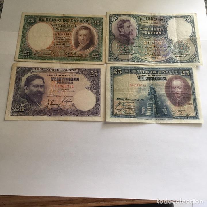 LOTE DE BILLETES ESPAÑOLES DE 25 Y 50 PESETAS. (Numismática - Notafilia - Billetes Españoles)