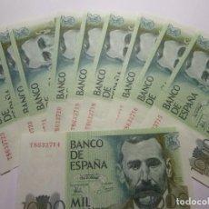 Billetes españoles: 10 BILLETES DE 1000 PTAS 1979 SIN CIRCULAR. Lote 230424215