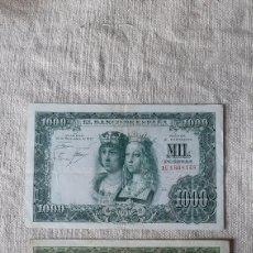 Billetes españoles: C 458128 1000 PESETAS 1951 ESPAÑA/1 U 1898148 1957 LEYES CATÓLICOS NUMISMÁTICA COLISEVM. Lote 230962575