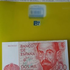 Billetes españoles: PLANCHA SÍN SERIE 4629117 2.000 PESETAS JUAN RAMÓN JIMÉNEZ 22 JULIO 1980 BANCO ESPAÑA. Lote 231650390