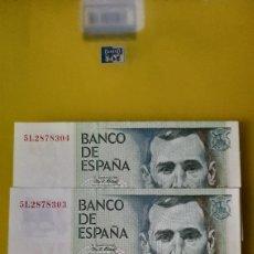 Billetes españoles: PLANCHA TRIO CORRELATIVO 5 L 2878392/4 23 OCTUBRE 1979 BANCO ESPAÑA 1.000 PESETAS BENITO PÉREZ GALD. Lote 231651860