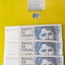 Billetes españoles: PLANCHA TRIO CORRELATIVO 1 L 5845423 /25 500 PESETAS ROSALIA CASTRO 23 OCTUBRE 1979 BANCO ESPAÑA. Lote 231701180