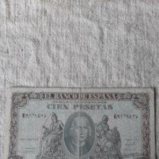 Billetes españoles: G 8176019 CIEN PESETAS 9 ENERO 1940 CRISTÓBAL COLÓN BANCO ESPAÑA NUMISMÁTICA COLISEVM. Lote 231953445