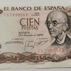 Billetes españoles: BILLETE DE ESPAÑA DE 100 PESETAS DE 1970 MANUEL DE FALLA. Lote 232345720