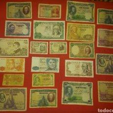 Billetes españoles: GRAN LOTE BILLETES DE PESETAS. Lote 232482255