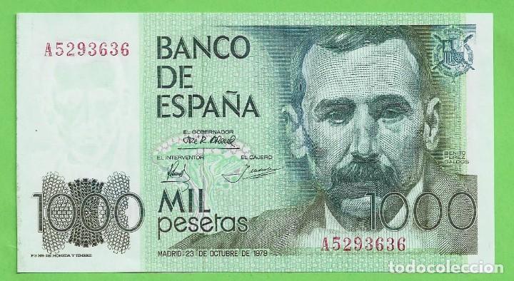 ESPAÑA:BILLETE DE 1000 PESETAS 1979 PEREZ GALDÓS. SERIE A (Numismática - Notafilia - Billetes Españoles)