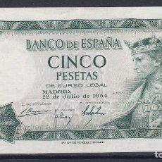 Billetes españoles: ESPAÑA.- BILLETE DE 5 PESETAS ALFONSO X DE 1954 SERIE H EN MBC ( CON LIGERO DOBLEZ CENTRAL ). Lote 234167095