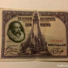 Billetes españoles: BILLETE 100PESETAS AÑO 1928.. Lote 235231950