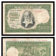 Billetes españoles: ESPAÑA 1000 PESETAS 1951 (JOAQUIN SOROLLA) PIK 143 SERIE C MBC-. Lote 235325120