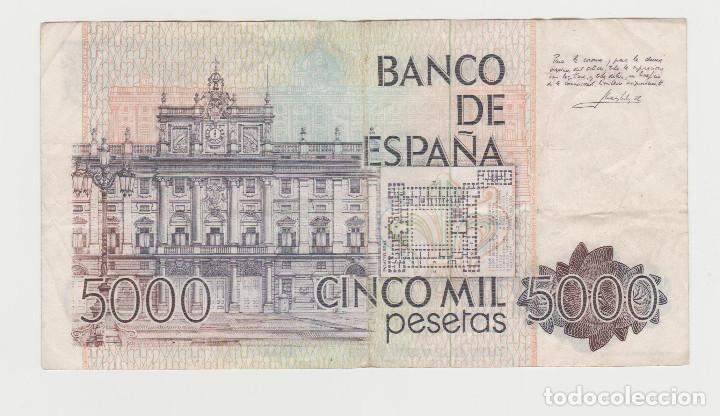 Billetes españoles: 5000 PESETAS- 23 DE OCTUBRE DE 1979-SERIE ESPECIAL- 9F 269457 - Foto 2 - 235330110