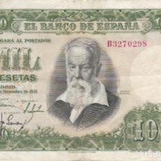 Billetes españoles: BILLETE DE 1000 PESETAS DEL AÑO 1951 DEL PINTOR JOAQUIN SOROLLA SERIE B EN BUENA CALIDAD. Lote 235506080