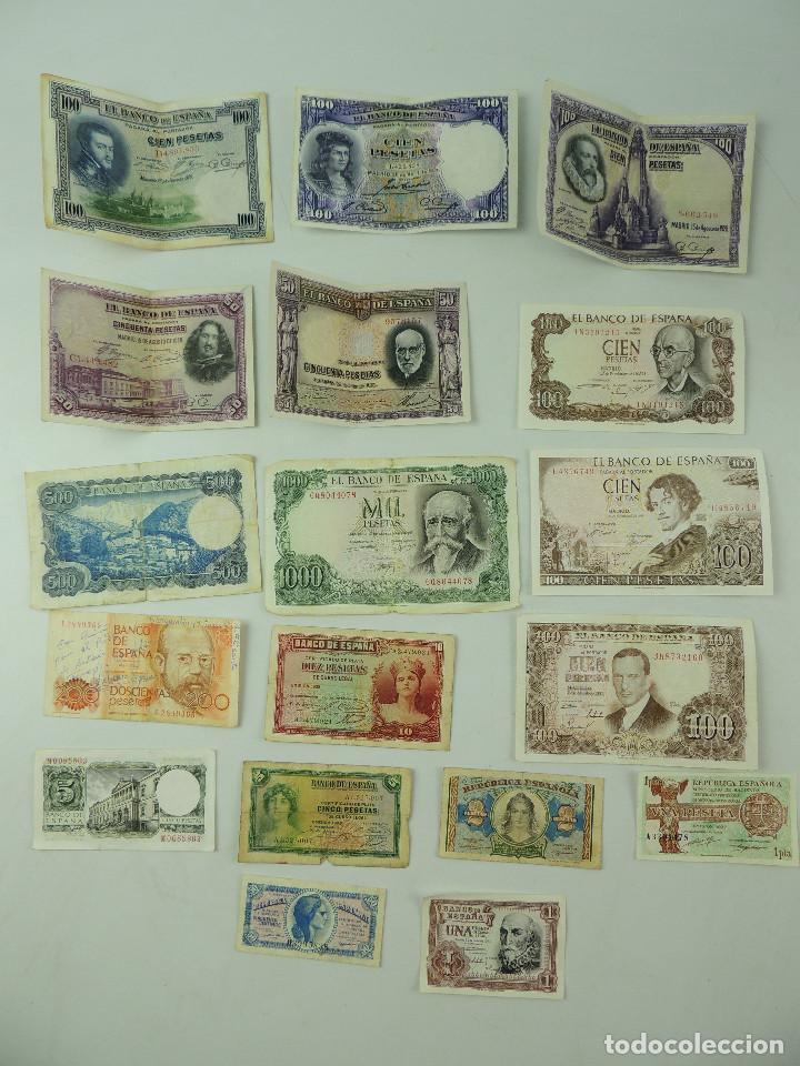 COLECCIÓN LOTE BILLETES DE PESETAS ESPAÑA (Numismática - Notafilia - Billetes Españoles)