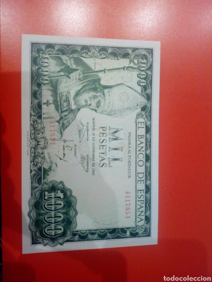 BILLETE 1000 PESETAS 1965 PLANCHA SIN SERIE (Numismática - Notafilia - Billetes Españoles)