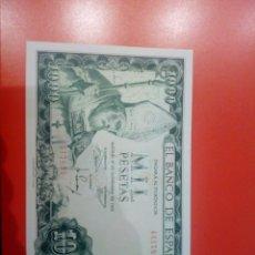 Billetes españoles: BILLETE 1000 PESETAS 1965 PLANCHA SIN SERIE. Lote 235569275