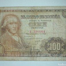Billetes españoles: BILLETE 100 PESETAS 1948 BAYEU. Lote 235843115
