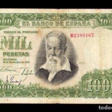 Billetes españoles: ESPAÑA 1000 PESETAS JOAQUIN SOROLLA 1951 PICK 143 SERIE B BC F. Lote 236309380