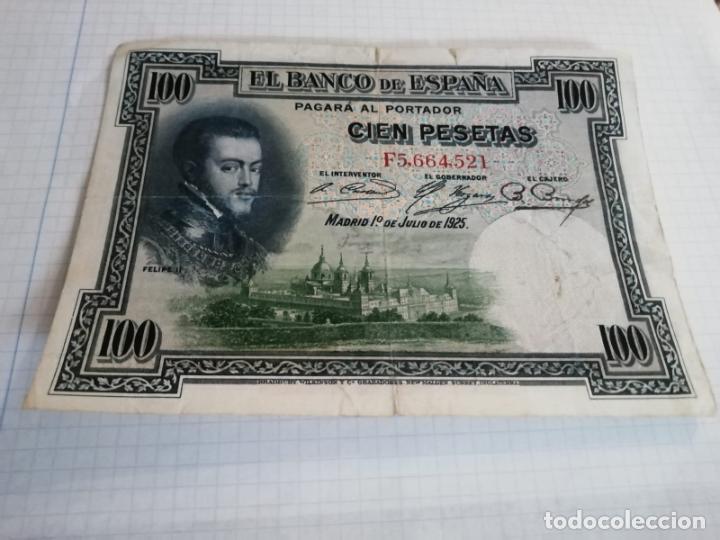 BILLETE DE 100 PESETAS, MADRID 1 DE JUNIO DE 1925 (Numismática - Notafilia - Billetes Españoles)