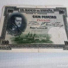Billetes españoles: BILLETE DE 100 PESETAS, MADRID 1 DE JUNIO DE 1925. Lote 236955440
