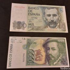 Billetes españoles: LOTE 2 BILLETES DE 1000 PESETAS 1992 Y 1979 JUAN CARLOS I SIN CIRCULAR. Lote 251447945