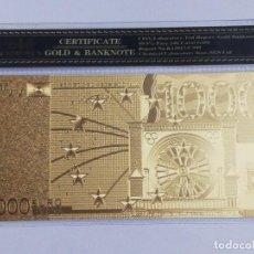 Billetes españoles: BILLETE 1000 EUROS EN LAMINA DORADA CON FUNDA. Lote 262152745