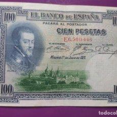 Billetes españoles: 100 PESETAS 1925 ( SERIE E) EBC-. Lote 238034665