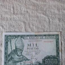 Billetes españoles: U 6125609 1000 PESETAS 19 NOVIEMBRE 1965 BANCO ESPAÑA S.ISIDRO MADRID NUMISMÁTICA COLISEVM. Lote 238061455