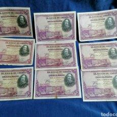 Billetes españoles: LOTE 9 BILLETES VELAZQUEZ SERIE E. Lote 239456300